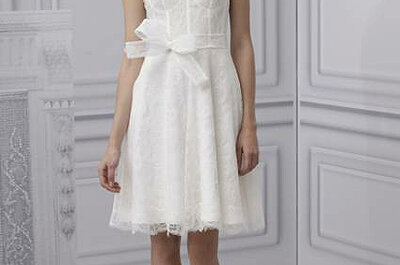 Wedding dresses with a warped neck