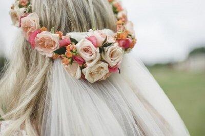 Coroas de flores para noivas 2015: escolha a sua!