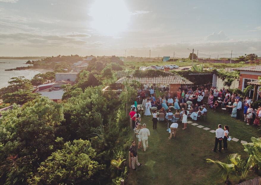 Casa Jardim Mar: o lugar perfeito para um destination wedding à beira-mar com um cenário paradisíaco