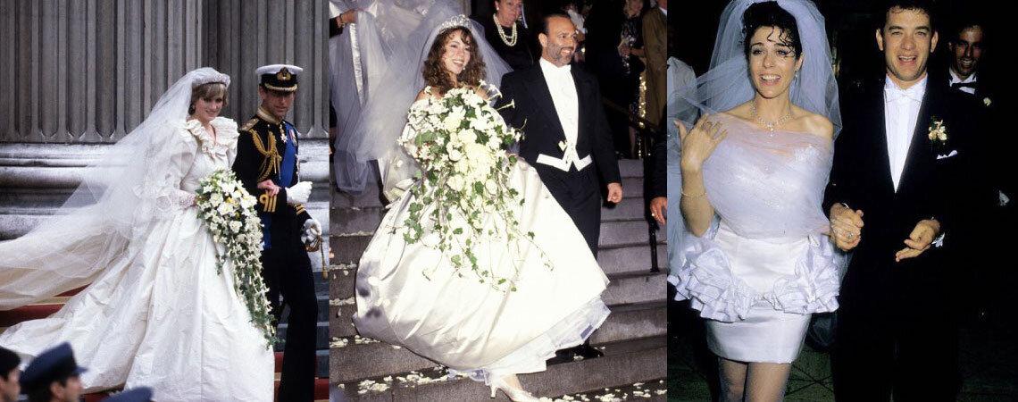 Scopri l'abito da sposa che andava di moda nell'anno in cui sei nata