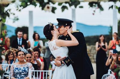 Una celebración militar muy especial: la boda de Verónica y Samuel