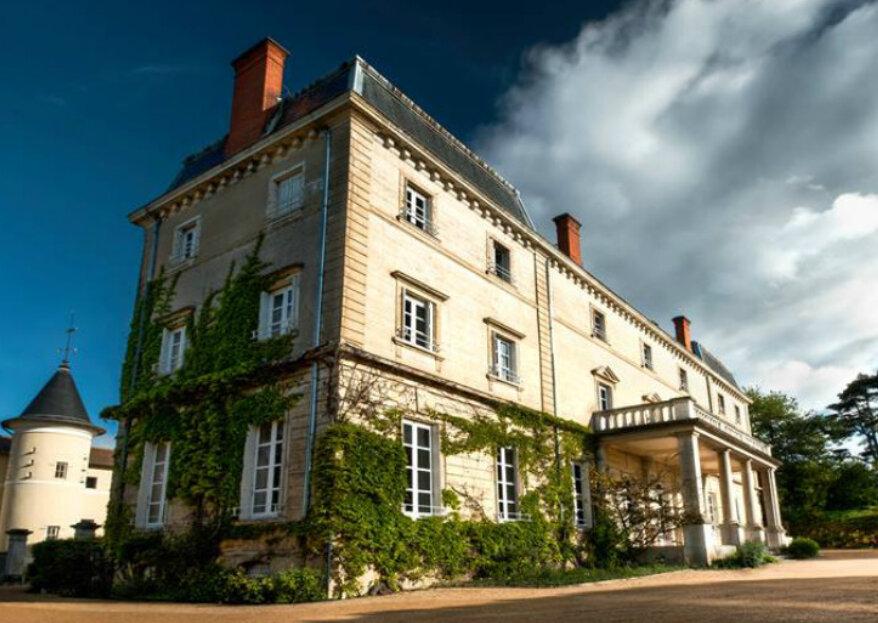Les plus beaux châteaux de mariage dans le Rhône, près de Lyon !