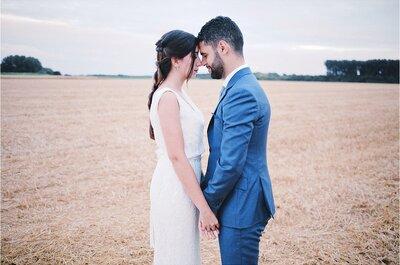 Samia + Karim : leur joli mariage bohème dans le Nord, plein de sourires et de bonne humeur !