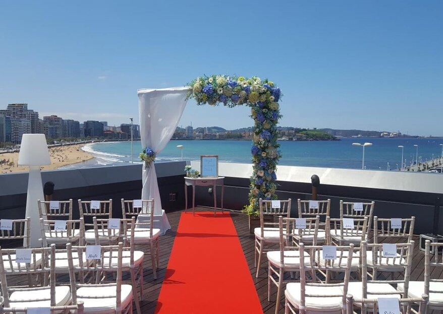 """Un """"sí, quiero"""" con vistas al mar gracias al Hotel Abba Playa Gijón"""