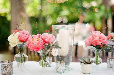 DIY: cómo hacer centros de mesa con flores naturales