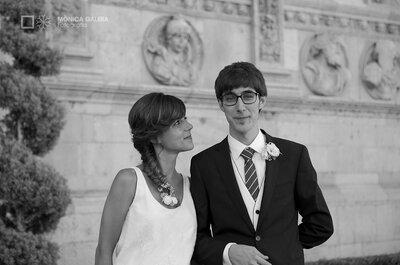 La divertida boda de Lidia y Germán en el Parador de León