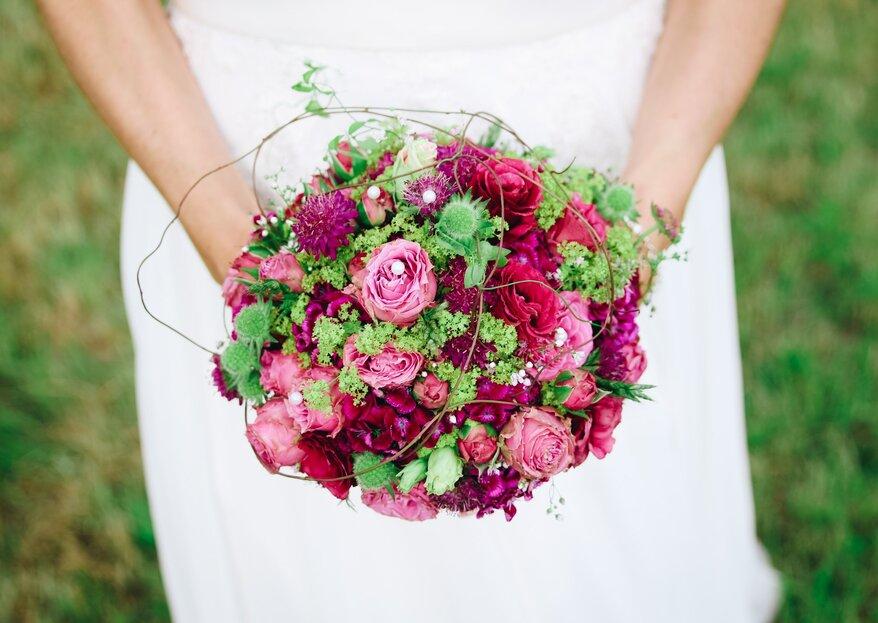 Bouquet da sposa 'unconventional': trova la tua tonalità