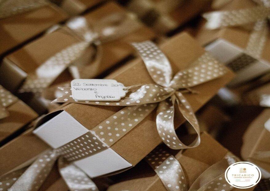 Azienda Agricola Tricarico, dalla Puglia la vostra bomboniera biologica, elegante e personalizzata, tutta da gustare!
