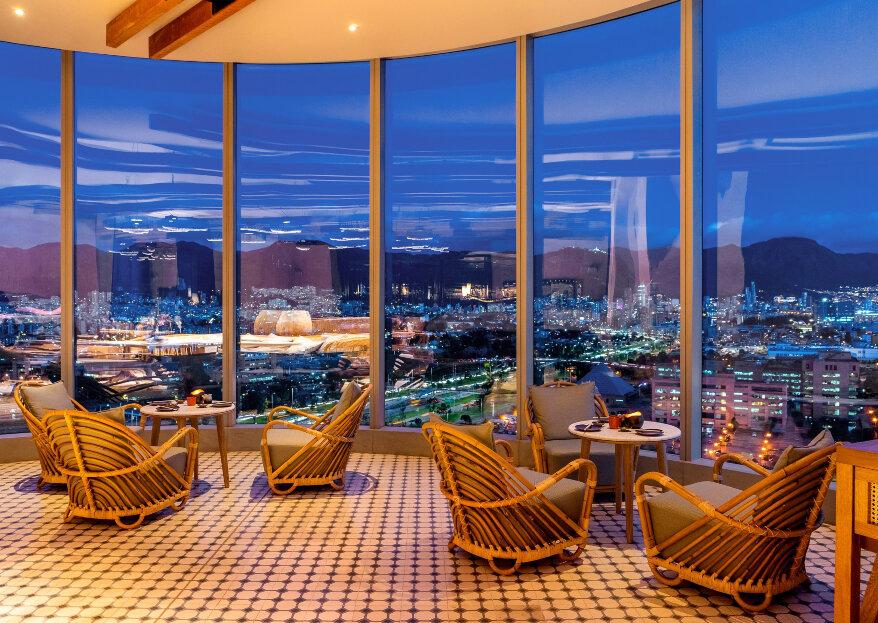 La perspectiva que da una gran locación para bodas: Grand Hyatt Bogotá