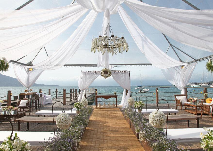 Pier 151: cenário paradisíaco e estrutura impecável para o casamento dos sonhos