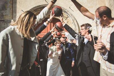 Emilie et Bastien : une décoration de mariage vintage dans les tons verts pour ces amoureux du basket