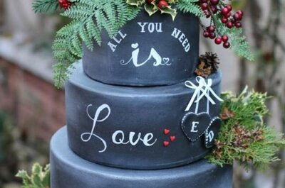 Chalkboard Wedding Cakes: 2017's Hottest Edible Trend!