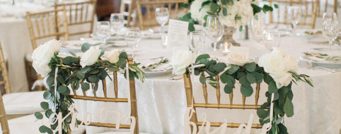 Stuhldeko für die Hochzeit: Mit Sitzmöbeln die Hochzeit aufpeppen