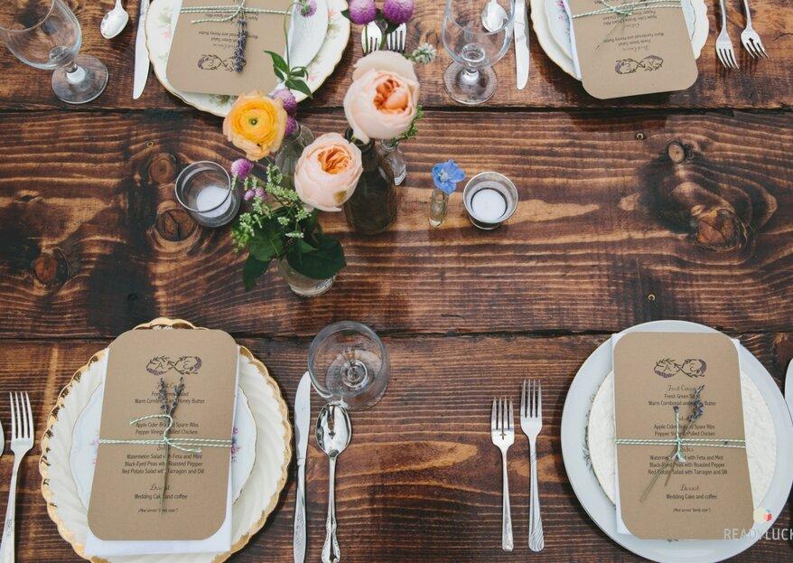 Cómo decorar una boda rústica en 5 pasos y triunfar