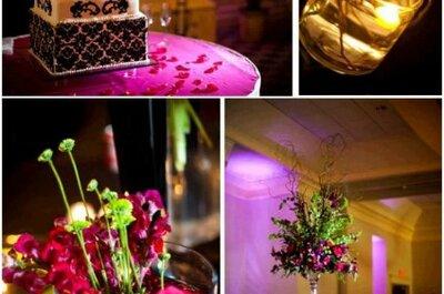 Des idées pour une décoration de mariage rose fuchsia