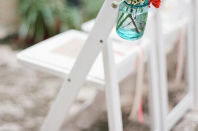 Las ideas más originales para usar mason jars en tu boda: ¡Los amamos más que nunca!