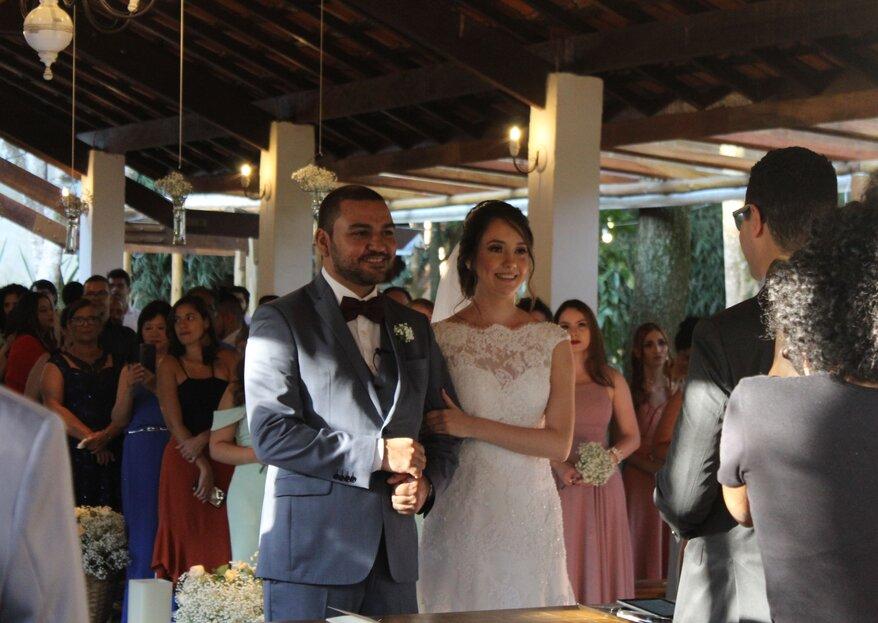 Juliana & Edilson: Casamento romântico e rodeado de natureza para celebrar o grande dia do casal