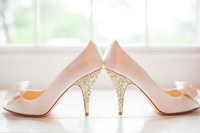 Perle, piume, fiori...Le scarpe da sposa con qualcosa in più!