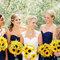 Des demoiselles d'honneur aux couleurs du soleil. Photo: Danielle Capito