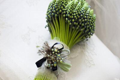 Ramos de novia naturales con un toque rústico