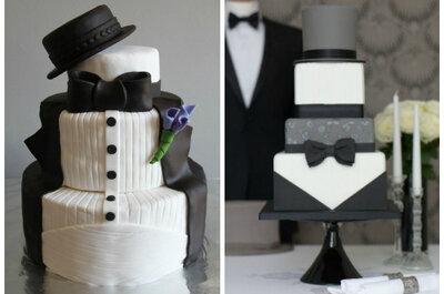Zaskakujące trendy ślubne: tort dla pana młodego