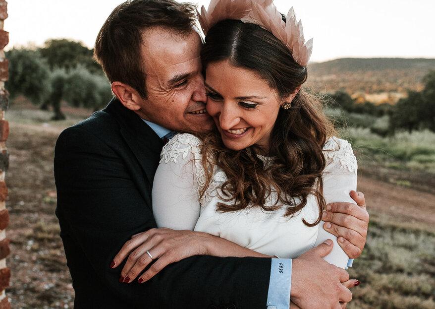 Llena de sentimientos: la boda de María y Javier