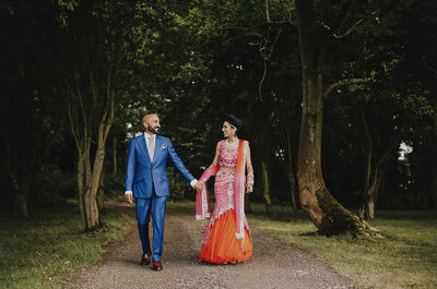The third and final celebration, Amit and Seema's Sikh wedding reception