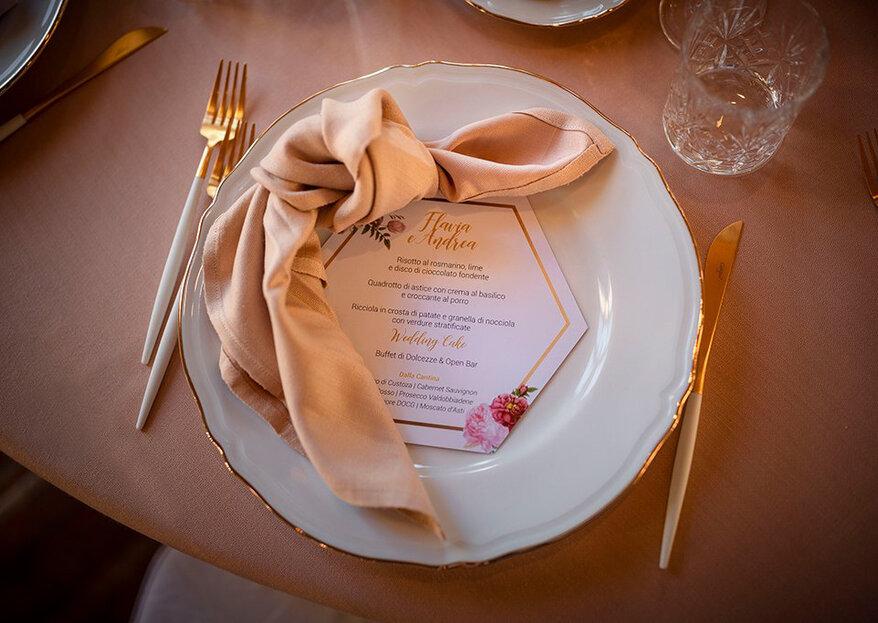 Mise en place matrimonio: consigli per una tavola perfetta