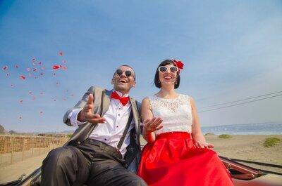 Beth y Felipe, el singular romanticismo y el eterno amor en una boda de otra época