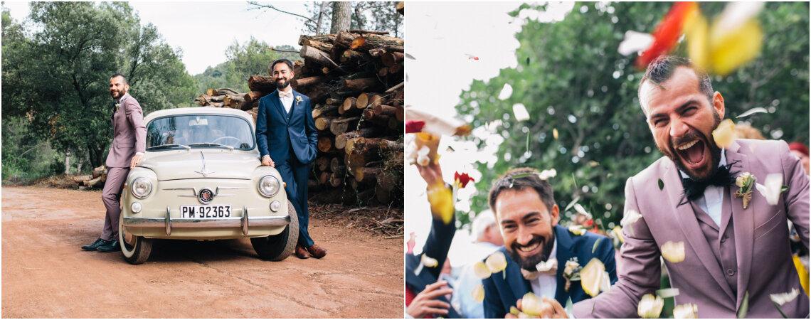 Casera y familiar: la boda de Lucas y Xavi