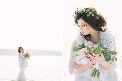 Миг хрупкого равновесия: весенне-зимняя невеста