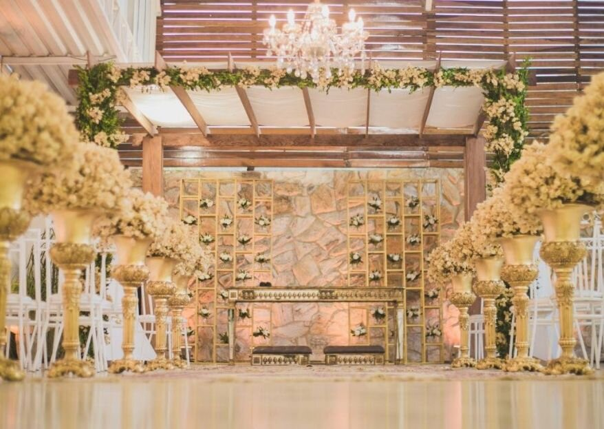 Espaço com estrutura completa para um casamento como você sonha? Você precisa conhecer o Saionara Festas e Eventos!