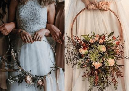 Os buquês mais originais de 2018 serão os 'hoop bouquets'. Você conhece?