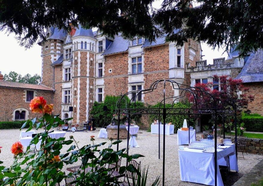 Cadre authentique et havre de paix : le Château de la Colaissière offre un décor idyllique pour se marier