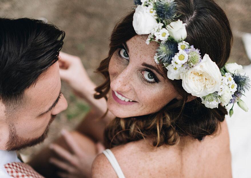 Escolha o toucado para noiva (mais lindo) de acordo com o formato do seu rosto