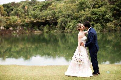 Mini wedding de Flaviana & Gustavo: casamento DESLUMBRANTE em Inhotim!