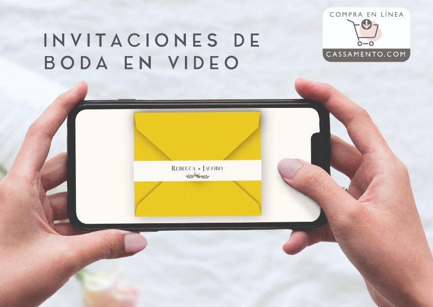 Románticas e innovadoras: así son las invitaciones digitales de Cassamento