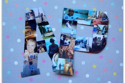 Inicjały ozdobione zdjęciami - personalizowana dekoracja ślubna DIY