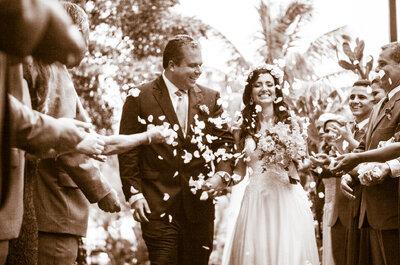 Casamento de Daniele & Marco na Pousada Espelho das Águas: ao ar livre, em frente à praia e MUITO emocionante!