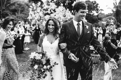 O casamento na fazenda de Luciana e Lucas: cerimônia a céu aberto, amor transbordando e festa animadíssima!