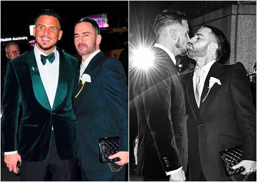 O estilista Marc Jacobs casou com Charlie Defrancesco em evento que contou com a presença de tops e celebridades!