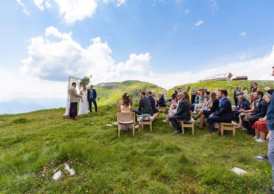 Heiraten über den Wolken – in der wunderbaren Bergwelt des Chäserrugg-Gebietes