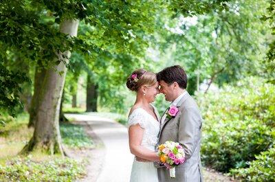 De vrolijke festival bruiloft van Merel en Hakan!