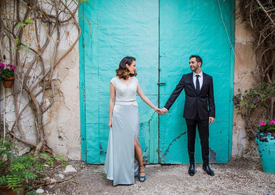 La novia del vestido azul: la boda de Eva y Juan