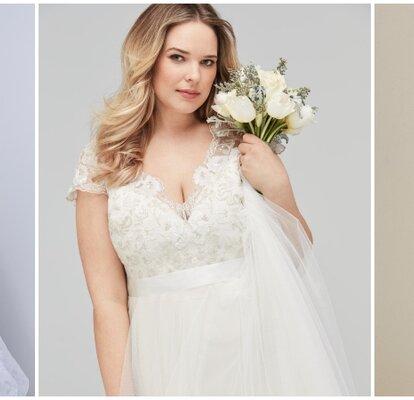 f61b95ab7 45 vestidos de novia para mujeres gorditas. ¡Luce tus curvas con las  últimas tendencias!