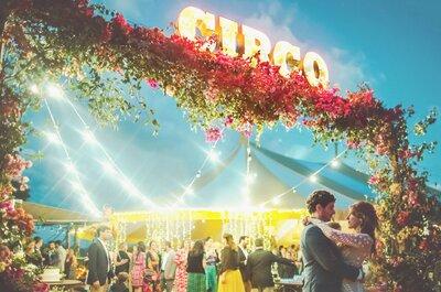 Casamento temático: circo foi o tema escolhido para o