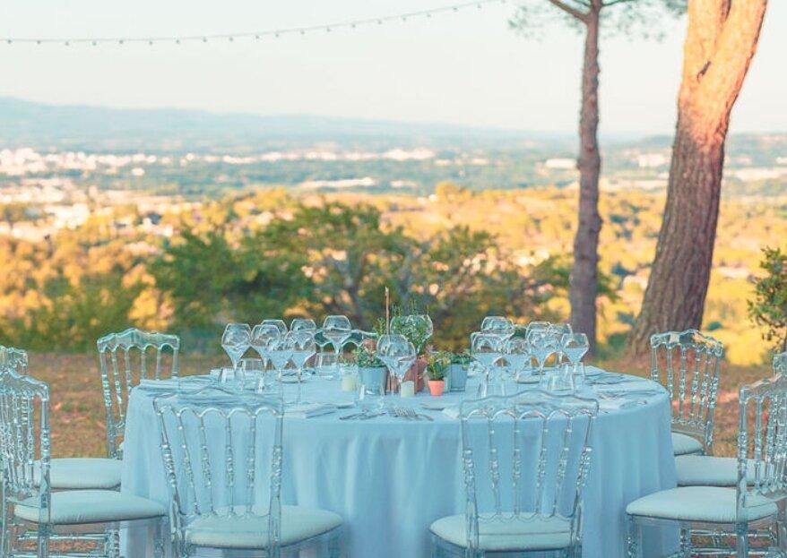 20 lieux de réception magiques pour votre banquet de mariage en plein air