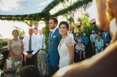 Camila & Dustin: casamento internacional de frente para o mar em Búzios!
