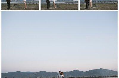Reflejo de amor en tomas: Una sesión de fotos pre boda en la magia del campo