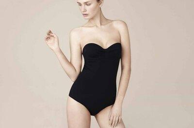 Bikinis y trajes de baño en color negro para novias